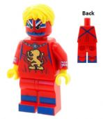 Captain Britain Version 2 (British equivalent of Captain America) - Custom Designed Minifigure